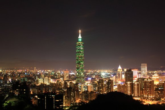 Taipei về hẳn trời tối