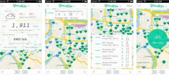 Dùng ứng dụng di động để theo dõi tình trạng hoạt động các trạm Ubike