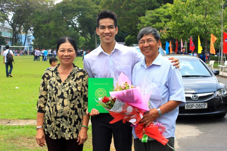 With my beloved parents in my graduation day