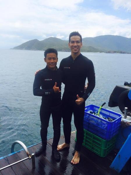 Big thanks to bro Huan, an experienced and enthusiastic scuba diving instructor